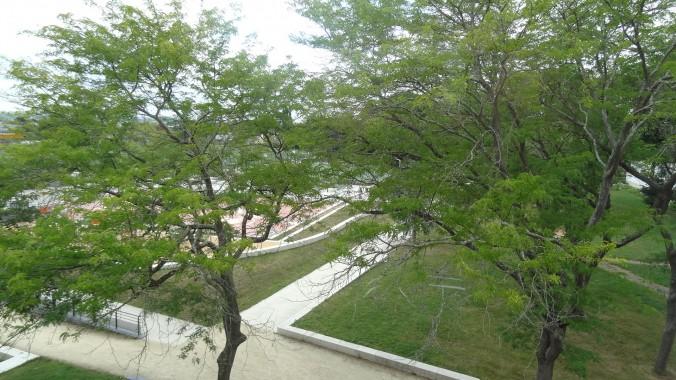 vue sur parc et jardins des ch 1 , 2 et  3 ,ouest