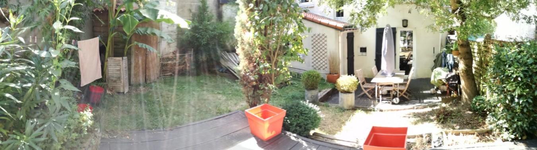 Jardin vu de la seconde terrasse.