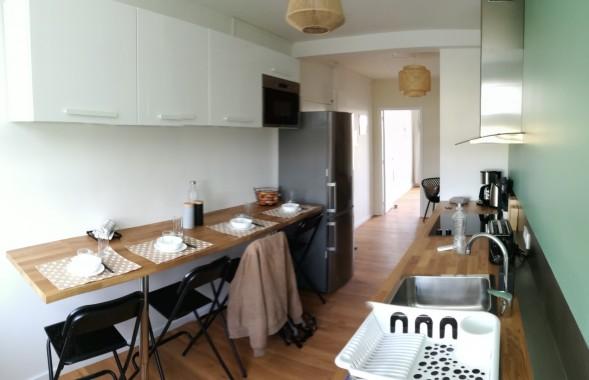 La salle a manger et cuisine